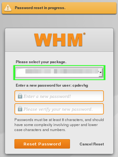 package and password