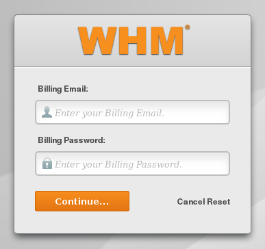 billing email and password