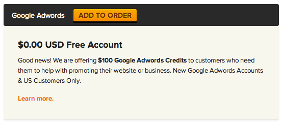 AdWords product add-on
