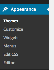 Appearance, then Settings