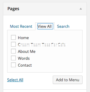 Pages pane