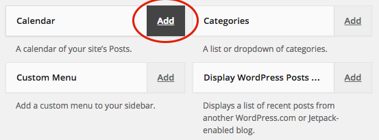 Add a widget to your widget area