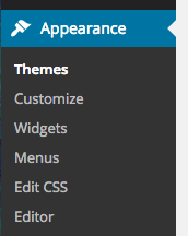 Appearance, then Themes