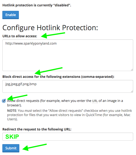 Configure Hot Link Protection